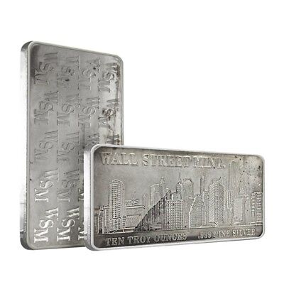Wall Street Mint 10 oz Silver Bar .999 Fine (Secondary Market)