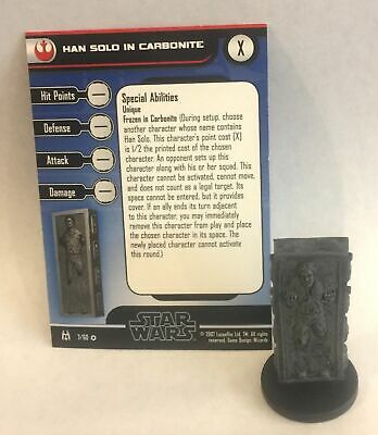 Star Wars Force Unleashed 7/60 Han Solo in Carbonite (VR) Miniature