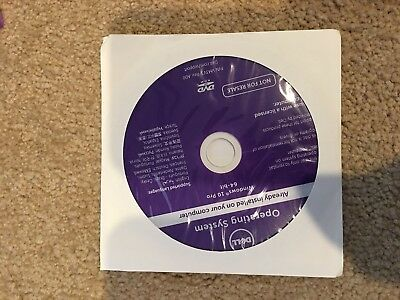 *NEW* DELL WINDOWS 10 Professional 64 Bit OS Restore Recovery DVD /wi opt  Memory