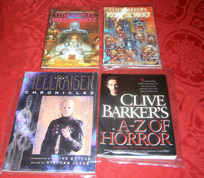 Clive Barker's A-Z Horror Hellraiser Chronicles Book of Damned Comics Signed Lot