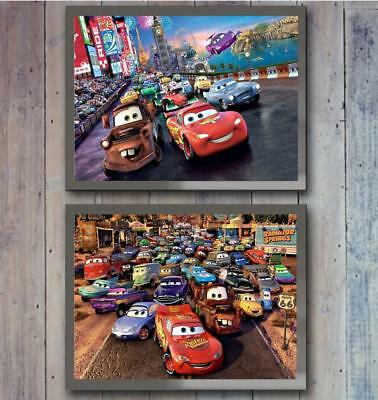 Disney Cars set of 2 Poster Picture Print Photo wall Art Decor gift Character