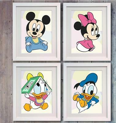Disney Mickey Mouse Minnie Babies Poster Picture Print Photo Wall Art Decor Gift