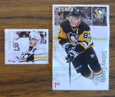 2016 Canadian Hockey Legend SIDNEY CROSBY used pair  #2942 and #2948