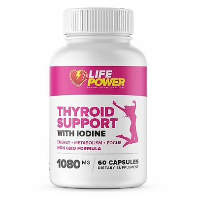 Life Power Labs - Thyroid Support Complex with Iodine - Dietary Supplement Fo...