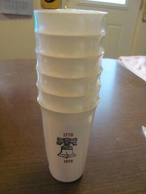 New Unopened Pack of 6 Plastic Glasses / Tumblers U.S. Bicentennial 1776-1976
