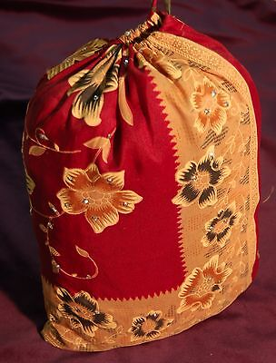 Recycled Sari cloth Gift Bags craft storage silk party bag wedding favours India