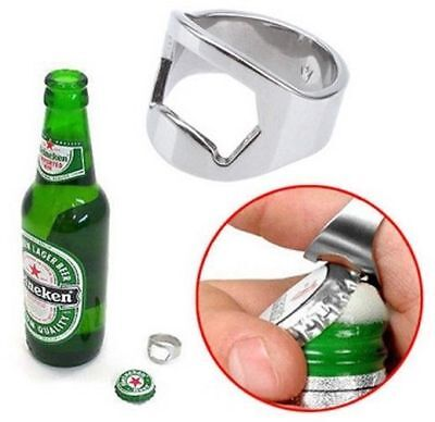 4244ab03fe7 NEW CONVENIENT Stainless Steel Finger Ring Bottle Opener Beer Bar ...