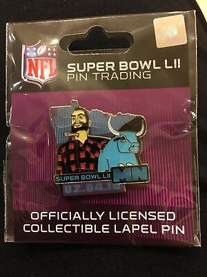 NFL Super Bowl 52 LII 2018 Trading Pin Wincraft Paul Bunyan Babe Patriots Eagles