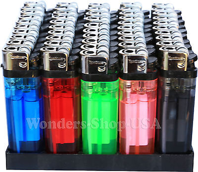 Wholesale Pack Lot 1000 Cigarette Lighter Disposable Lighters Classic Full Size
