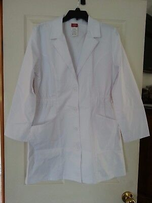 Women's size small Dickies white clinician lab coat-NWT