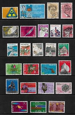 SWITZERLAND mixed collection No.26, 1972-1975, used