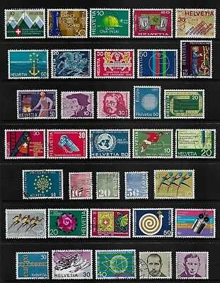 SWITZERLAND mixed collection No.27, 1968-1971, used