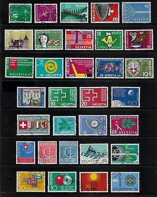 SWITZERLAND mixed collection No.28, 1952-1967, used
