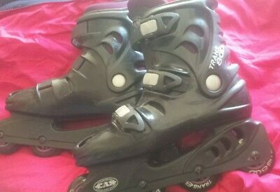 CAS Trans 800 Men's Size 8 Inline Skates Roller Blades~ Color Black and Purple