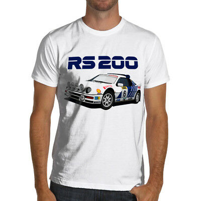 Classic Ford RS200 Group B Rally Soft Cotton T-Shirt WRC