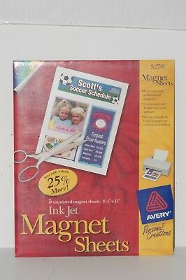 image relating to Avery Printable Magnet Sheets identified as AVERY PRINTABLE INKJET Magnet Sheets, 8-1/2 x 11, White, 5/Pack 072782032708