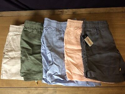 ELLEN TRACY - Womens Linen SHORTS Casual -- 5 colors -- NEW