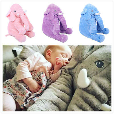 Long Nose Elephant Stuffed Animal Plush Toy Kids Baby Bed Pillow Cushion 52cm