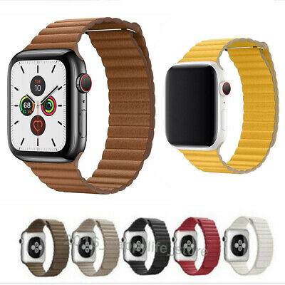 Genuine Leather Loop Magnetic Loop Strap Watch Band For Apple Watch Serie 3/2/4