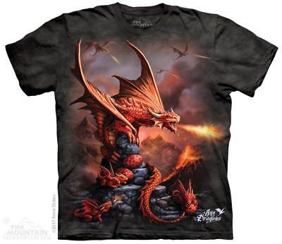 Fire Dragon T-Shirt by The Mountain. Age of Dragons Red Dragon Sizes S-5XL NEW