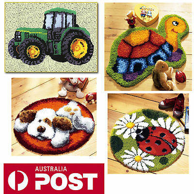 DIY Latch Hook Kits 4 models Needlecrafts Gifts 20'' Rug Cute Animals Carpet