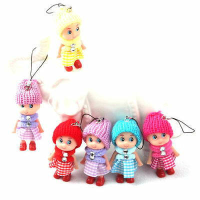 5Pcs Kids Toys Soft Interactive Baby Dolls Toy Mini Doll For Girls Cute Gift TH-