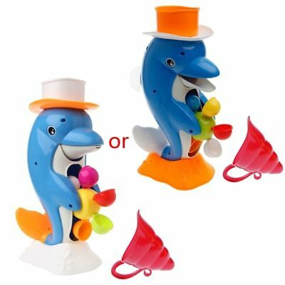 Cute Dolphin Bathroom Bath Shower Wheel Toy Kids Baby Water Spraying Tool Gift