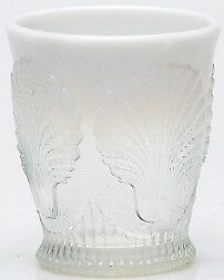 Mosser Glass CRYSTAL OPAL 8 OUNCE TUMBLER Made in OHIO USA RARE Kitchenware