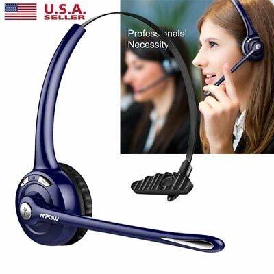 Mpow Pro Trucker Bluetooth Headset Headphone Earphone with Mic US Seller