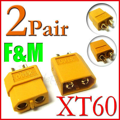 2 Pairs XT60 Bullet Connectors plugs RC lipo battery
