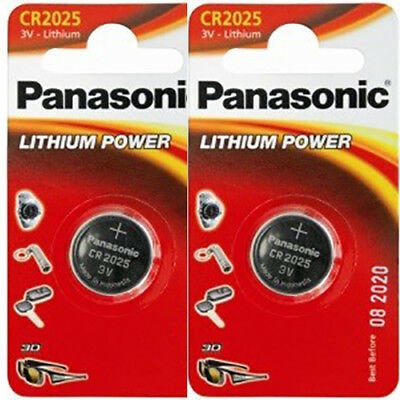 2 X Panasonic Lithium Coin Cell Battery CR2025 3V 2025
