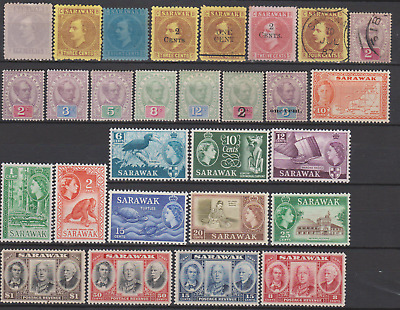 Sarawak 1871/1955 Collection Mint Mounted & Used