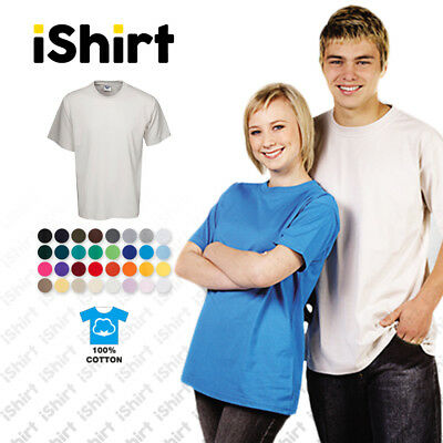 Mens T-Shirt 100% Cotton I Plain Blank Unisex Tees I Regular Fit I Xs-5Xl
