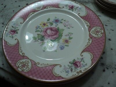 Myott  Son & Co Lt Enaland China Staffordshire Rose Pink  4)Dinner Plates