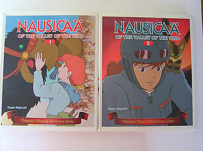 RARE Nausicaa of Valley of Wind 1 & 2 ENGLISH PICTURE BOOK Tokuma Miyazaki ANIME