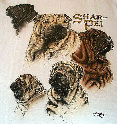 "Shar Pei T- shirt  "" Natural "" Small ( 34 ~ 36 )"