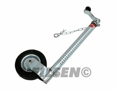 Neilsen 48mm 400kg Jockey Wheel Ribbed Clip Locking Caravan, Trailer, Boat 3397