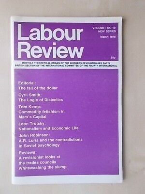 Labour Review - Marxist Journal Of Workers Revolutionary Party March - 1978
