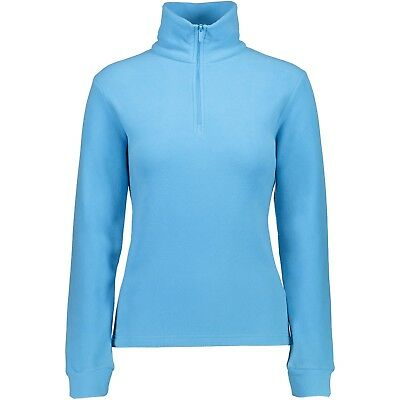 CMP Skishirt 3G27836 Damen Sweat Funktionsshirt Skirolli hellblau Fleecepullover