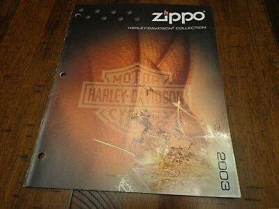 Harley Davidson Zippo Lighter Catalog 2003 Unused