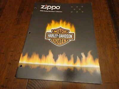 Harley Davidson Zippo Lighter Catalog 2006 Unused