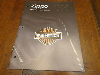 Harley Davidson Zippo Lighter Catalog 2007 Unused
