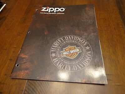 Harley Davidson Zippo Lighter Catalog 2010 Unused