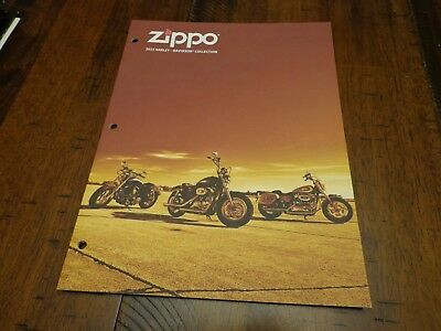 Harley Davidson Zippo Lighter Catalog 2013 Unused