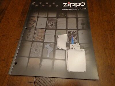 2008/2009 Choice Zippo Lighter Catalog Unused