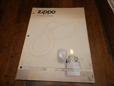Full Size Zippo Lighter Catalog 2012 80Th Anniversary Unused