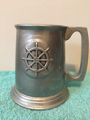 Metal brewery beer stein mug nautical ship boat drink Ware collectible Cup