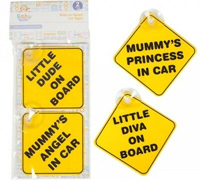 Baby On Board 2 Pack Car Safety Stick on Sign Choice of Baby Boy & Girl