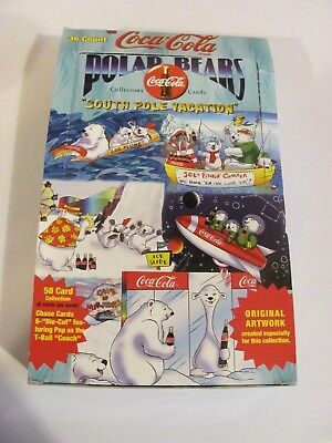 Coca Cola Polar Bears South Pole Vacation 37 Unopened Collectible Card Packs