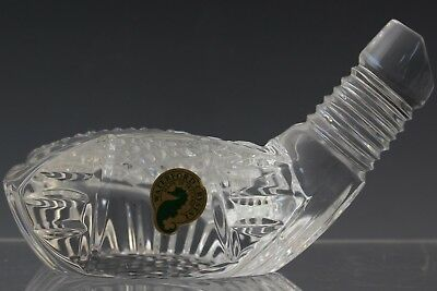 Vintage Signed Waterford Irish Crystal Golf Driver Head Paperweight Gift